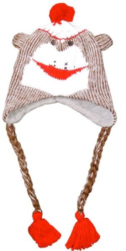 Image Unavailable. Image not available for. Color   Cl188 Adult Knit Animal  Hat-sock Monkey Necklace Accessory ... fb949dcdeffb