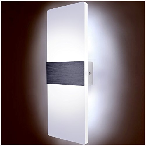 Kernorv LED Wall Sconces Light Modern and Fashion Cool White Modern Wall Sconce Decorative Lamps for Bedroom Living Room Balcony Porch Stairway Office Hotel and Hallway 11.4'' x 4.3'' (12W, 6000K) by Kernorv (Image #1)