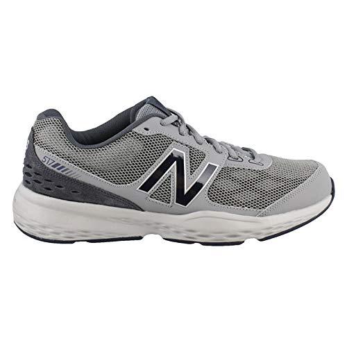 New Balance Men's MX517v1 Training Shoe, Grey/Navy, 11.5 4E US