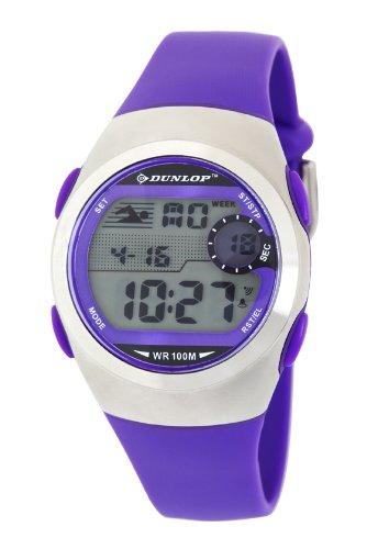 Dunlop DUN-206-L09 - Reloj Digital de Cuarzo para Mujer con Correa de plástico, Color Morado: Amazon.es: Relojes