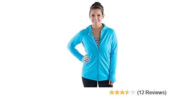 c861675530b Amazon.com  Workout Hooded Signature Jacket with Thumb Holes for Women -  XL