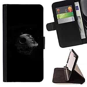 Momo Phone Case / Flip Funda de Cuero Case Cover - Estrella de la Muerte - LG G4 Stylus H540