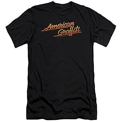 American Graffiti 1973 Comedy Movie Lucas Neon Logo Adult Slim T-Shirt Tee