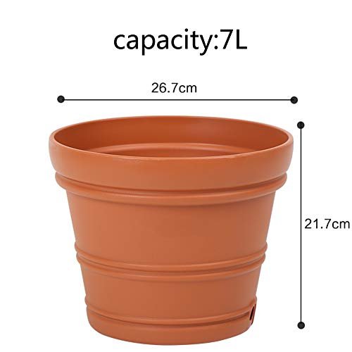 (Large Size Color Creative Convex Lines Balcony Indoor Outdoor Large Caliber European Style Plastic -K)