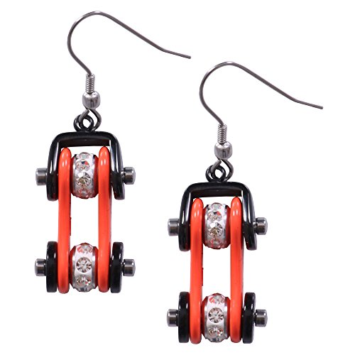 Hot Leathers Unisex-Adult Earring Bike Chain (Orange, One Size) - Dot Outlaw Gloss