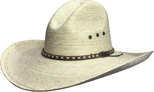 Skull With Cowboy Hat (BULL-SKULL HATS, PALM LEAF COWBOY HAT, GUS 505)