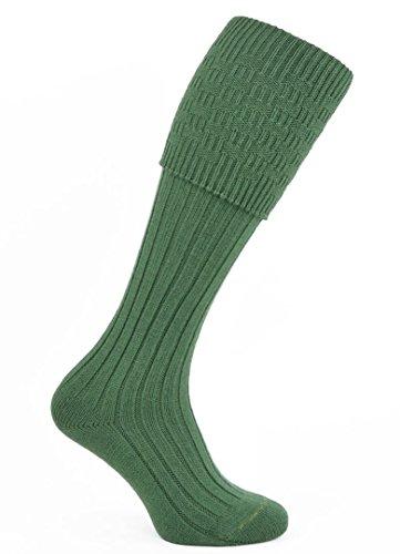 (Macdonald Sporrans Men's Wool Blend Morven Scottish Kilt Hose Large Lovat Green)