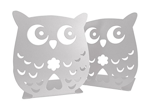 Owl Wonderland Bookends - Cute Lightweight Baby Owls - Great Decor for Little Ones Nursery, Childrens Bedroom, Kids Playroom or Fun Owllover Gift for Office - Church Bookends