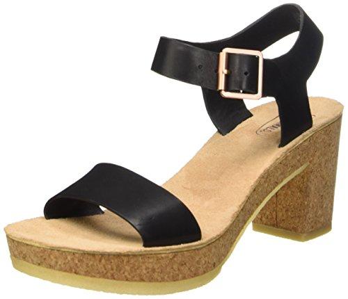 Clarks Jayda Parade - Sandalias de tobillo para mujer Black Leather