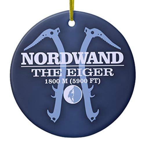 Price comparison product image Nordwand The Eiger Xmas Decoration Ceramic Ornament Circle Shape