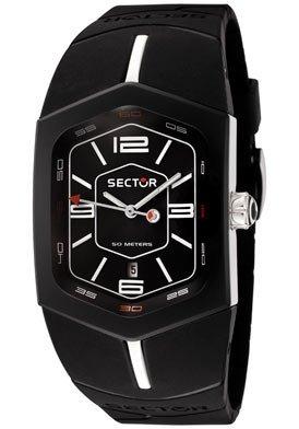 Sector Men's R3251101025 Winch Master Collection Black Polyurethane Watch