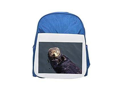 Luz de nutria azul de natación impreso Kid Mochila, para mochilas, cute small Mochilas