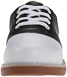 Classroom School Uniform Shoes Cheer Oxford (Toddler/Little Kid/Big Kid),Black/White,2.5 M US Little Kid