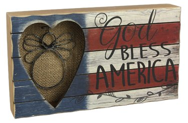 Heart of America Wood God Bless Angel Box by Heart of America