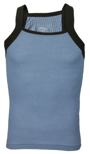 2(X)IST 2xist Contrast Square-Cut Tank Top Blue/Brown for sale  Delivered anywhere in USA