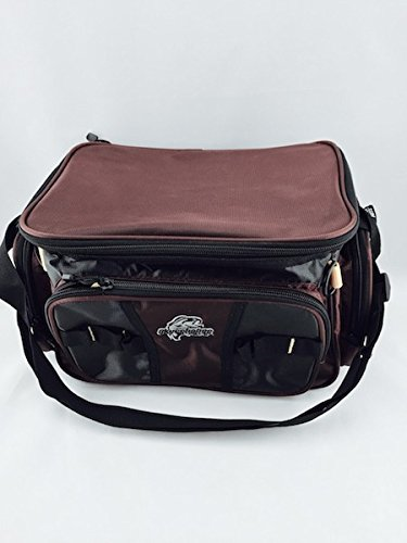 Okeechobee Fishing Tackle Bag W/ 2 Medium Utility Boxes (Rust Brown) Review