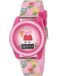 Peppa Pig Girl's Quartz Plastic Watch, Color:Pink (Model: PPG4005)