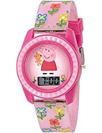 Girl's Quartz Plastic Watch, Color Pink (Model: PPG4005)