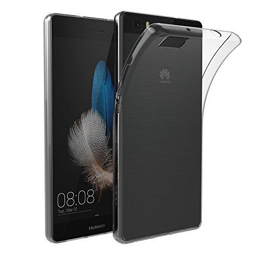 Funda Huawei P8 Lite, Vanki® Transparente Silicona TPU de Flexibilidad Carcasa Case Bumper Ultra Delgado para Huawei P8 Lite Diseño Creativo 3