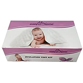Easy@Home branded 100 Ovulation (LH) and 20 Pregnancy (HCG) Test Strips, the reliable Ovulation Predictor Kit Combo (100 LH + 20 HCG Tests)