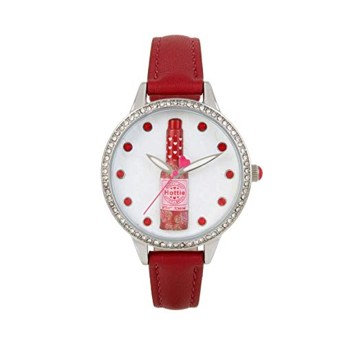 (Betsey Johnsons Hottie Hot Sauce Watch, Red)