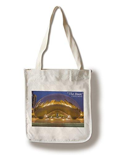 Lantern Press Chicago, Illinois - The Bean (100% Cotton Tote Bag - Reusable) -