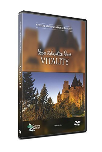 Nature DVD - Super Relaxation Series - Vitality - a Diverse Collection by Botanical Gardens; Tropical Lagoon; Mountain Ridge; Glacial River and Lake; Ancient Castle