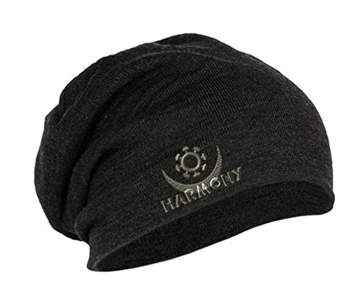osram-harmony-embroidery-embroidered-slouch-long-beanie-skully-hat-cap-dark-gray