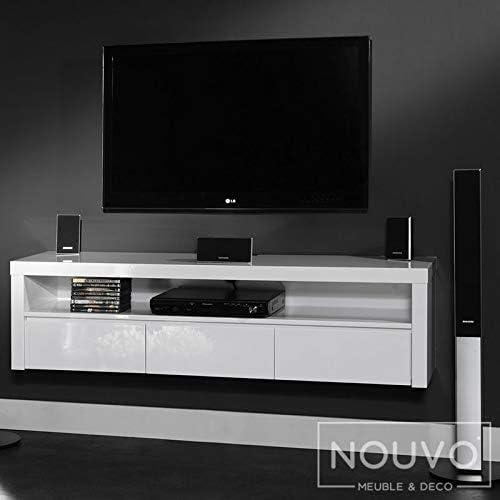 Mueble colgante para televisor de color blanco con diseño Myriam ...