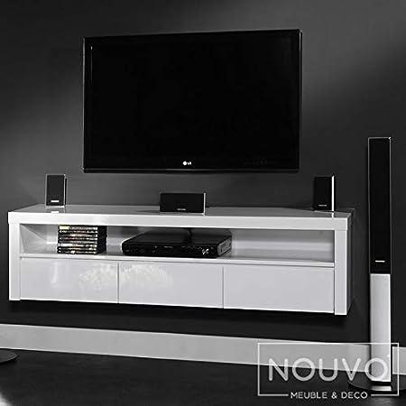 Mueble colgante para televisor de color blanco con diseño Myriam: Amazon.es: Hogar