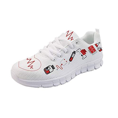 1 Bear Showudesigns White Nurse Sneaker Donna ZqX4P