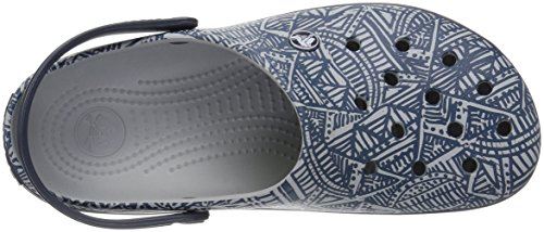 Light Crocs Grey Clog Crocband Navy Graphic w7qfFt