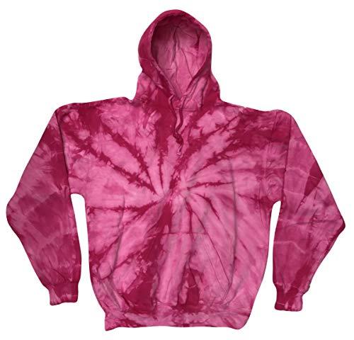 (Colortone Tie Dye Hoodie 2X Spider Pink)