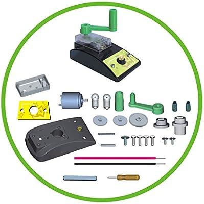 B Blesiya Juguete de Generador de Electricidad Manual Circuito de Bombilla Herramienta de Ense/ñanza Escolar para Ni/ños Ni/ñas