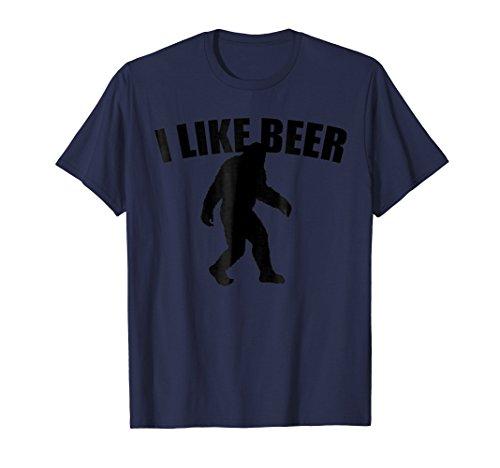 (Funny Bigfoot Likes Beer For Camping T-shirt)