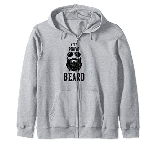 Keep Provo Utah BEARD Funny Hipster Retro  Zip ()