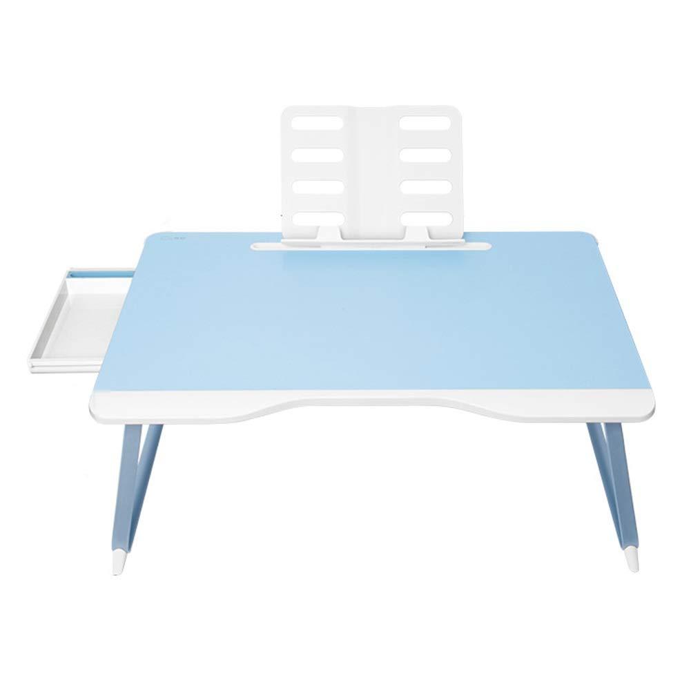 ラップトップテーブル 読書のための携帯用ノートブックスタンド、木製のラップトップベッドテーブルトレイ、折りたたみスタンド   B07QNW5J58
