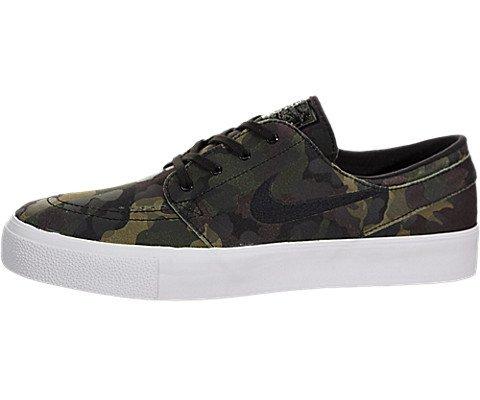 Nike Men's Zoom Stefan Janoski Premium White/Black-White-Multi-Color Ankle-High Leather Skateboarding Shoe - 11M (Nike Stefan Janoski All White)