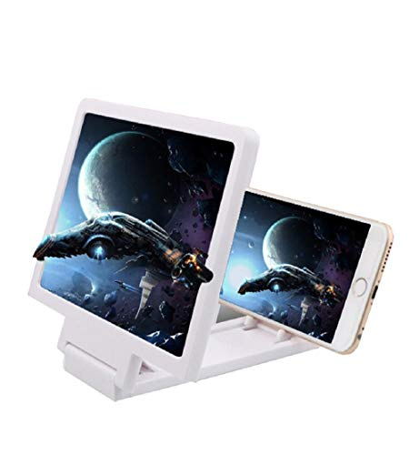 DEESEE(TM) NewNewest Mobile Phone Screen Magnifier Eyes Protection Display 3D Video Screen Amplifier Folding Enlarged Expander Stand (White)