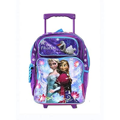 Disney Full Size Purple and Blue Sisters Stick Together Frozen Rolling Backpack: Clothing [5Bkhe1103086]