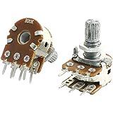 sourcingmap® 2Pcs B20K 20K Ohm Einstellbare 8mm Wellen PCB Linear Dual Potentiometer de