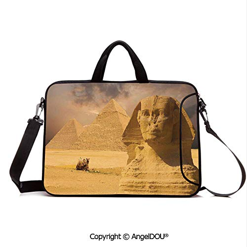 2931e3b32614 AngelDOU Portable Ultrabook Soft Sleeve Laptop Bag Case Cover The Great  Sphinx Face with Other Pyramids in Egypt Old Historical Monument Compatible  ...