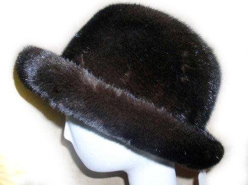 Mahogany Mink Cowboy Hat 2XL by FursNewYork