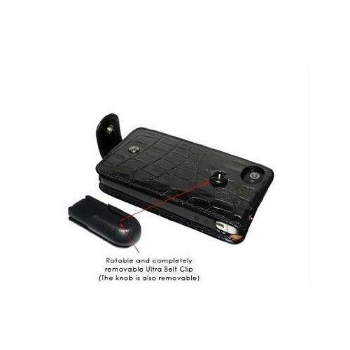 Piel Frama U601CO Krokodil Optik Snap Ledertasche für Apple iPhone 5/5S schwarz