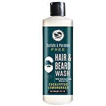 8 fl. Oz Eucalyptus & Lemongrass Marula Oil Hair & Beard wash - Natural Premium Sulfate free & Paraben free - Works great with our henna Hair dyes - The Henna Guys