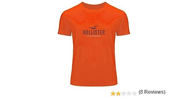 DIY Hollister - Camiseta de manga corta estampada para hombre ...