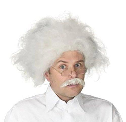 Albert Einstein Wig and Mustache Adult Costume Accessory (Einstein Costume Wig)