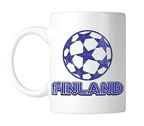 (Amdesco Finland Soccer 11 Oz White Coffee Mug (1 Mug))