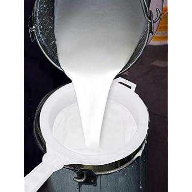 90 Degree Milk Stainer Garani Plastic Filter Mesh Nylon Milkcan Fitted (3 Pcs) for Dairy Imdustries 14