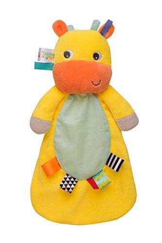 Taggies Bright Starts Giraffe Snuggle Buddy Security Blanket